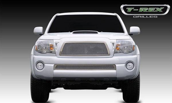 T-Rex (54895)  Toyota Tacoma 2005 - 2010 Upper Class Polished Stainless Mesh Grille