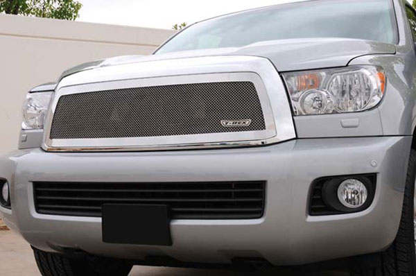 T-Rex 54903:  Toyota Sequoia 2008 - 2012 Upper Class Polished Stainless Mesh Grille - 1 Pc
