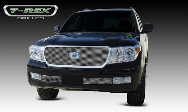 T-Rex 54934:  Toyota Landcruiser 2008 - 2012 Upper Class Polished Stainless Mesh Grille (Formed Mesh) - Replaces OE