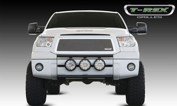 T-Rex 54963:  Toyota Tundra 2010 - 2012 Upper Class Polished Stainless Mesh Grille - With Formed Mesh Center - Insert (No Logo)
