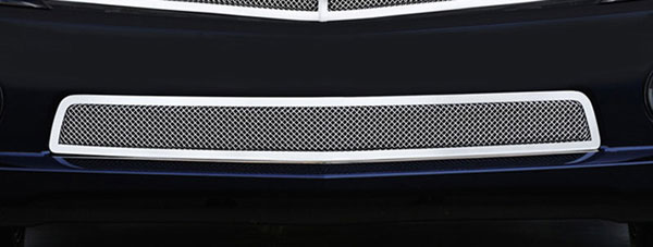 T-Rex 55027:  Chevrolet Camaro RS 2010 - 2013 Upper Class Polished Stainless Bumper Mesh Grille - With Formed Mesh Center (RS, LS, LT Models)