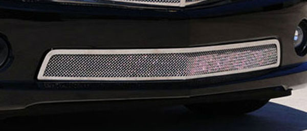 T-Rex 55028:  Chevrolet Camaro SS 2010 - 2013 Upper Class Polished Stainless Bumper Mesh Grille - With Formed Mesh Center (SS Models)