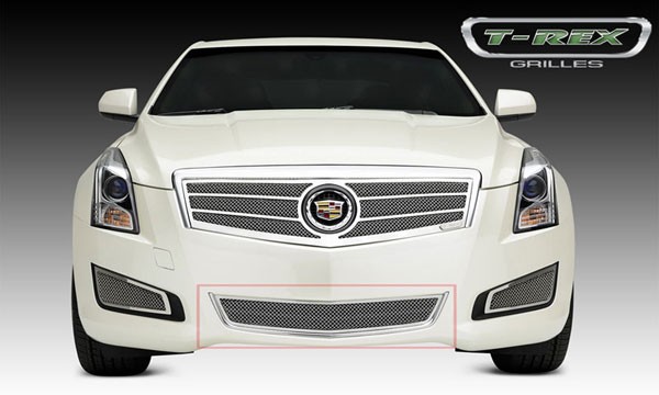 T-Rex 55177:  Cadillac ATS 2013 - 2013 Upper Class, Formed Mesh Grille, Center Bumper, Overlay, 1 Pc, Polished Stainless Steel (Will not fit Platinum Edition).