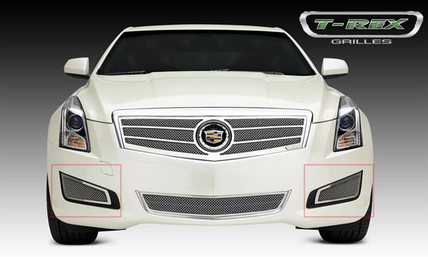 T-Rex 55178:  Cadillac ATS 2013 - 2013 Upper Class, Formed Mesh Grille, Side Bumpers, Overlay, 2 Pc, Polished Stainless Steel (Will not fit Platinum Edition).