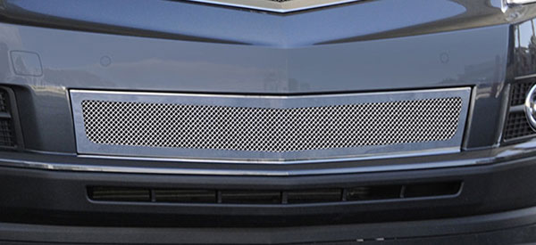 T-Rex 55186:  Cadillac SRX 2010 - 2013 Upper Class Mesh Bumper Grille, Overlay, Full Opening, Polished