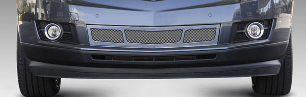 T-Rex 55187:  Cadillac SRX 2010 - 2013 Upper Class Mesh Bumper Grille, Overlay, 3 Window Design, Polished