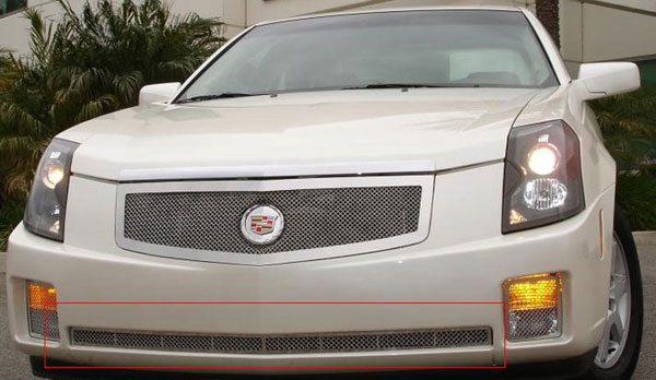 T-Rex 55192:  Cadillac CTS 2003 - 2007 Upper Class Polished Stainless Bumper Mesh Grille