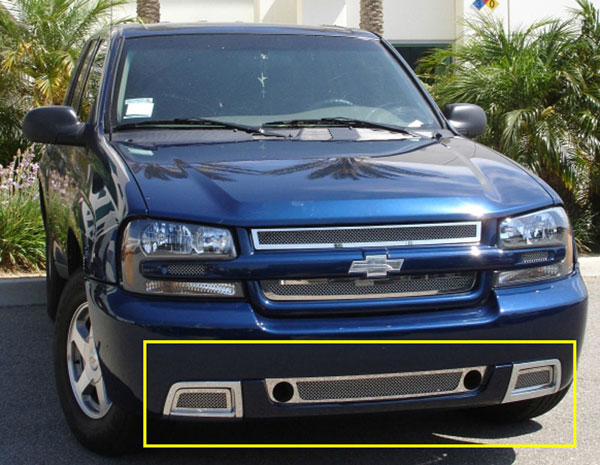 T-Rex 55284 |  Chevrolet Trailblazer SS - Upper Class Polished Stainless Bumper Mesh Grille - 3 Pc Kit; 2006-2009