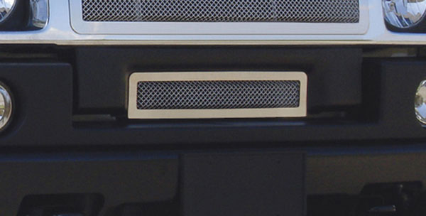 T-Rex (55290)  Hummer H2 2003 - 2007 Upper Class Polished Stainless Bumper Mesh Grille - With Formed Mesh Center