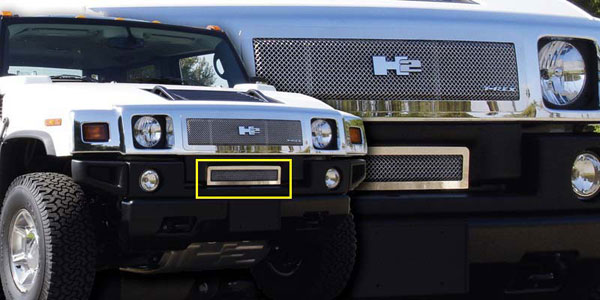 T-Rex 55295:  Hummer H2 2008 - 2009 Upper Class Polished Stainless Bumper Mesh Grille