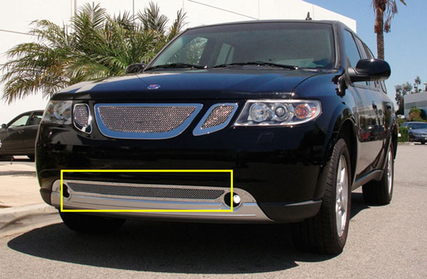 T-Rex (55305)  Saab 9-7X 2007 - 2008 Upper Class Polished Stainless Bumper Mesh Grille