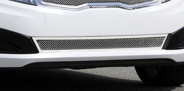 T-Rex 55320:  Kia Optima 2011 - 2011 Upper Class Polished Stainless Bumper Mesh Grille - With Formed Mesh Cente