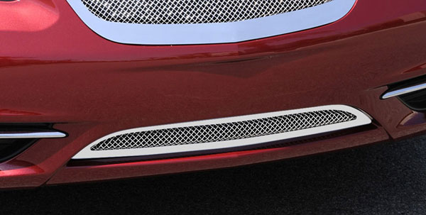 T-Rex (55408)  Chrysler 200 2011 - 2013 Upper Class Polished Stainless Mesh Bumper Grille - With Formed Mesh
