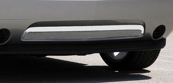 T-Rex 55416:  Dodge Challenger (ALL) 2011 - 2012 Upper Class Polished Stainless Bumper Mesh Grille (With Frame)