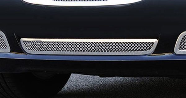 T-Rex 55433:  Chrysler 300 2011 - 2013 Upper Class Polished Stainless Bumper Mesh Grille - with Frame and Formed Mesh Center - Installs into center bumper opening