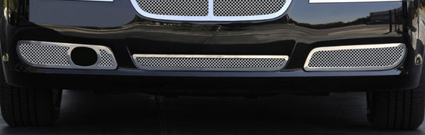 T-Rex 55435 |  Chrysler 300 with Adaptive Cruise - Upper Class Polished Stainless Bumper Mesh Grilles - 2 Pc - Fits vehicles with Adaptive Cruise ONLY; 2011-2013