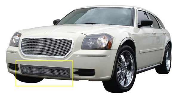 T-Rex (55473)  Dodge Magnum (Except SRT) 2005 - 2007 Upper Class Polished Stainless Bumper Mesh Grille