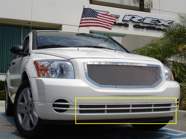 T-Rex 55477:  Dodge Caliber (Except SRT) 2007 - 2010 Upper Class Polished Stainless Bumper Mesh Grille (Mesh Only - No Frame)