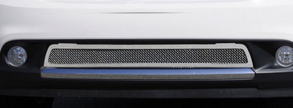 T-Rex 55492:  Dodge Durango 2011 - 2013 Upper Class Polished Stainless Mesh Bumper Grille - With Formed Mesh Center