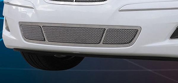T-Rex 55494:  Hyundai Genesis Sedan 2009 - 2010 Upper Class Polished Stainless Bumper Mesh Grille - With Formed Mesh Center (will only fits vehicles without Tech Package)