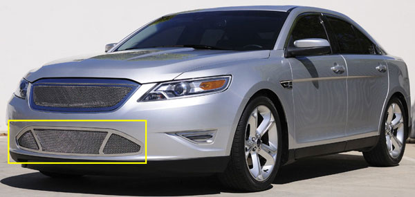 T-Rex 55526 |  Ford Taurus SHO - Upper Class Polished Stainless Bumper Mesh Grille; 2010-2011