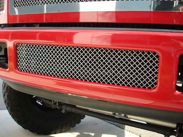 T-Rex (55563)  Ford Super Duty (All Models) 2008 - 2010 Upper Class Polished Stainless Bumper Mesh Grille (Mesh Only - No Frame)