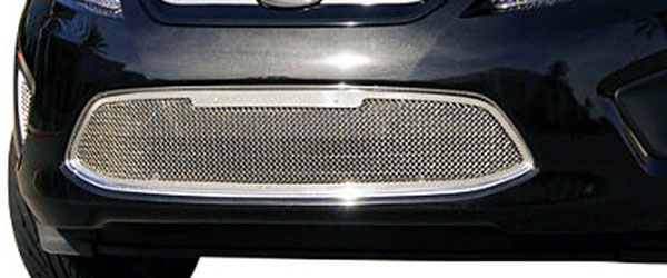 T-Rex 55588:  Ford Fiesta 2011 - 2011 Upper Class Polished Stainless Bumper Mesh Grille - With Formed Mesh - 1 Pc (Center Bumper Section Only)