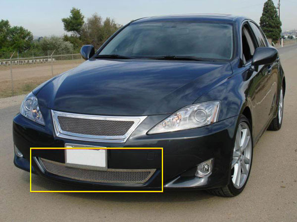 T-Rex 55647 |  Lexus IS 250/350 - Upper Class Polished Stainless Bumper Mesh Grille; 2006-2008