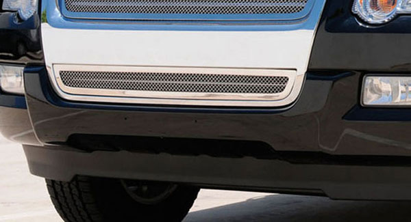 T-Rex 55659:  Ford Explorer XLT & Limited 2006 - 2010 Upper Class Polished Stainless Bumper Mesh Grille
