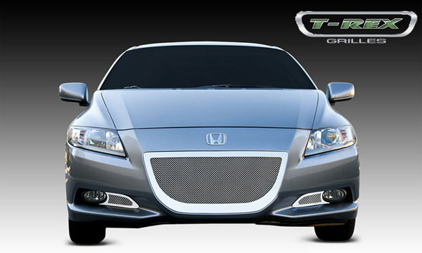 T-Rex 55704:  Honda CR-Z 2011 - 2011 Upper Class Polished Stainless Bumper Mesh Grille - With Formed Mesh Center - 3 Pc kit