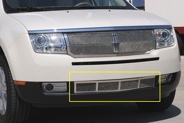 T-Rex 55717:  Lincoln MKX 2007 - 2011 Upper Class Polished Stainless Bumper Mesh Grille