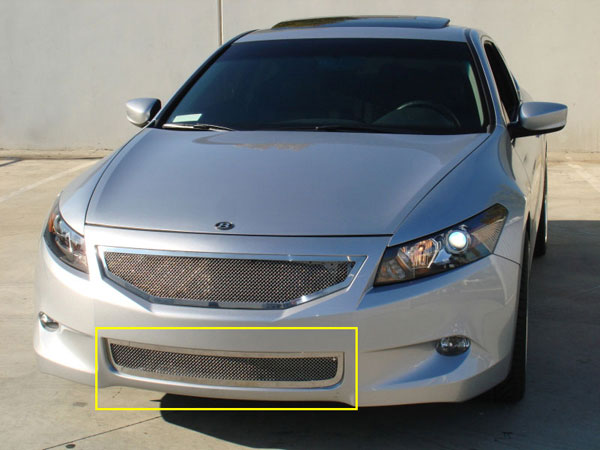T-Rex 55729 |  Honda Accord (Coupe) - Upper Class Polished Stainless Bumper Mesh Grille; 2008-2010