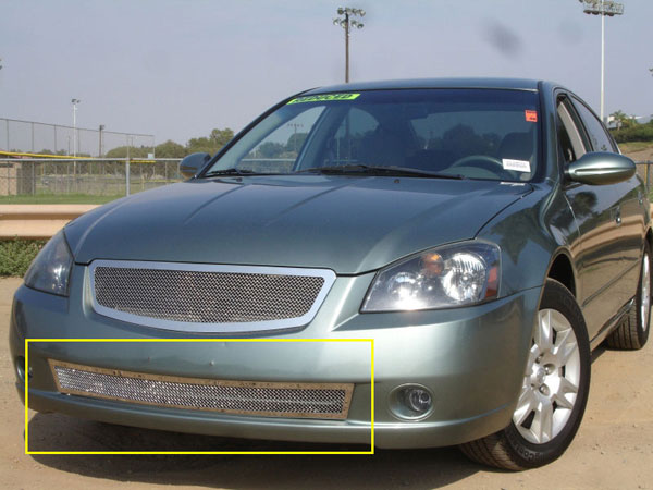 T-Rex 55741 |  Nissan Altima - Upper Class Polished Stainless Bumper Mesh Grille; 2005-2006