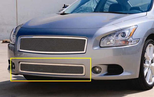 T-Rex 55758:  Nissan Maxima 2009 - 2012 Upper Class Polished Stainless Bumper Mesh Grille