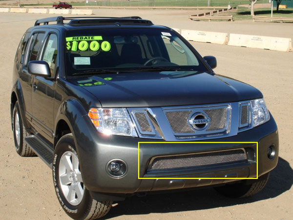 T-Rex 55761 |  Nissan Pathfinder 2008 - 2012 Upper Class Polished Stainless Bumper Mesh Grille