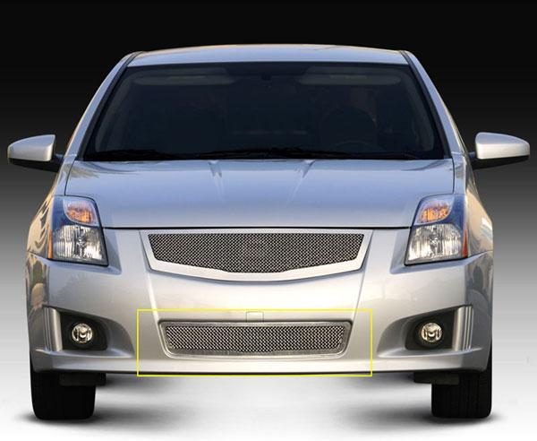 T-Rex 55764 |  Nissan Sentra 2.0 SR, SE-R - Upper Class Polished Stainless Mesh Bumper; 2008-2012