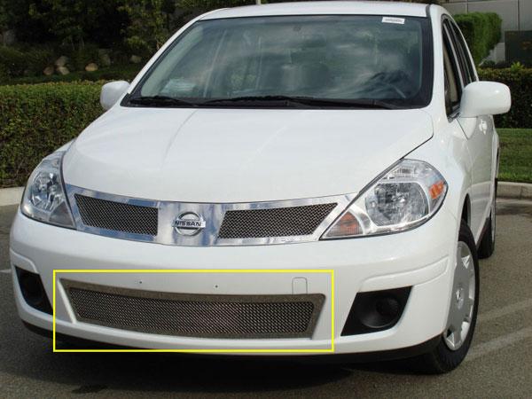 T-Rex 55773 |  Nissan Versa - Upper Class Polished Stainless Bumper Mesh Grille; 2007-2011