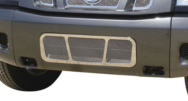 T-Rex 55780:  Nissan Titan (04-07 Armada) 2004 - 2012 Upper Class Polished Stainless Bumper Mesh Grille