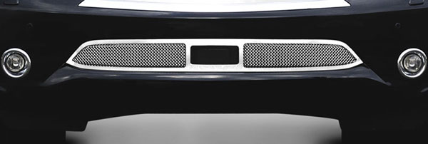 T-Rex 55792:  Infiniti QX56 2011 - 2013 Upper Class Mesh Bumper Grille, Overlay, with Cruise Sensor Opening, Polished