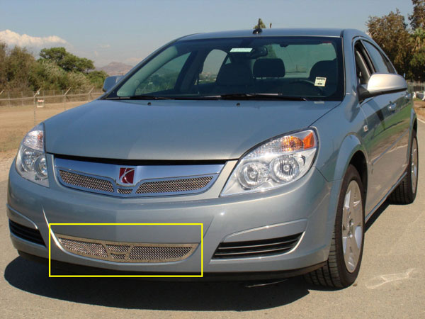 T-Rex 55807 |  Saturn Aura - Upper Class Polished Stainless Bumper Mesh Grille; 2007-2008