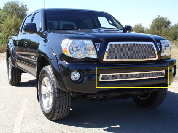 T-Rex 55895:  Toyota Tacoma 2005 - 2011 Upper Class Polished Stainless Bumper Mesh Grille (Except X-Runner)