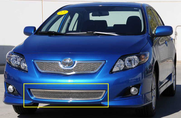 T-Rex 55908 |  Toyota Corolla - Upper Class Polished Stainless Bumper Mesh Grille; 2008-2010