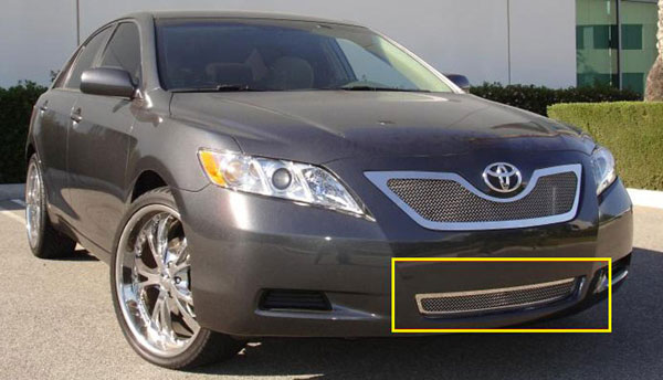 T-Rex 55921 |  Toyota Camry - Upper Class Polished Stainless Bumper Mesh Grille; 2007-2009