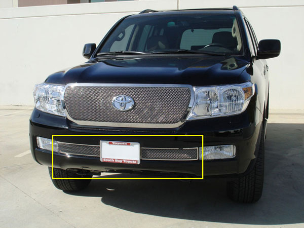 T-Rex 55934 |  Toyota Landcruiser - Upper Class Polished Stainless Bumper Mesh Grille (Formed Mesh) - 2 Pc; 2008-2012