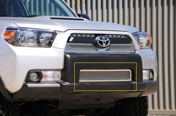 T-Rex 55947:  Toyota 4RUNNER 2010 - 2013 Upper Class Polished Stainless Bumper Mesh Grille