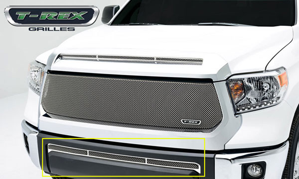 T-Rex 55964:  Toyota Tundra 2014 - Upper Class, Formed Mesh, Bumper Grille, Overlay, 1 Pc, Polished Stainless Steel