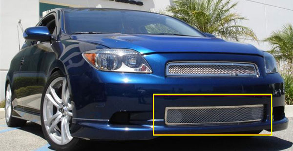 T-Rex 55972:  Scion Scion TC 2005 - 2007 Upper Class Polished Stainless Bumper Mesh Grille