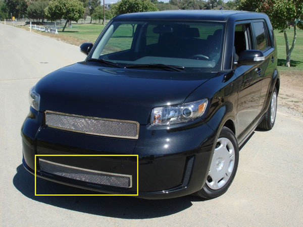 T-Rex 55973:  Scion Scion XB 2008 - 2010 Upper Class Polished Stainless Bumper Mesh Grille - Models w/o Fog Lamps