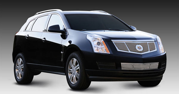 T-Rex 56187 |  Cadillac SRX - Upper Class Mesh Grille, Replacement, 3 Window Design, w/ OE Logo Plate, Chrome; 2010-2013