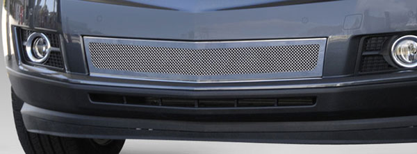 T-Rex 57186:  Cadillac SRX 2010 - 2013 Upper Class Mesh Bumper Grille, Overlay, Full Opening, Chrome